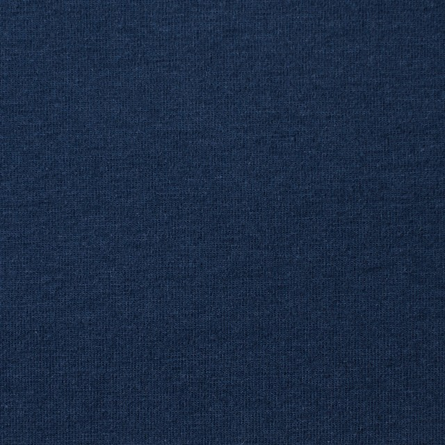 コットン&ポリエステル×無地(ネイビーブルー)×天竺ニット イメージ1
