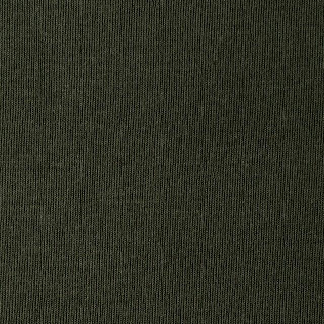 コットン×無地(モスグリーン)×フライスニット イメージ1