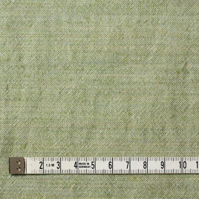 ウール&コットン×無地(グリーンティー)×起毛シャンブレー_全3色 イメージ4