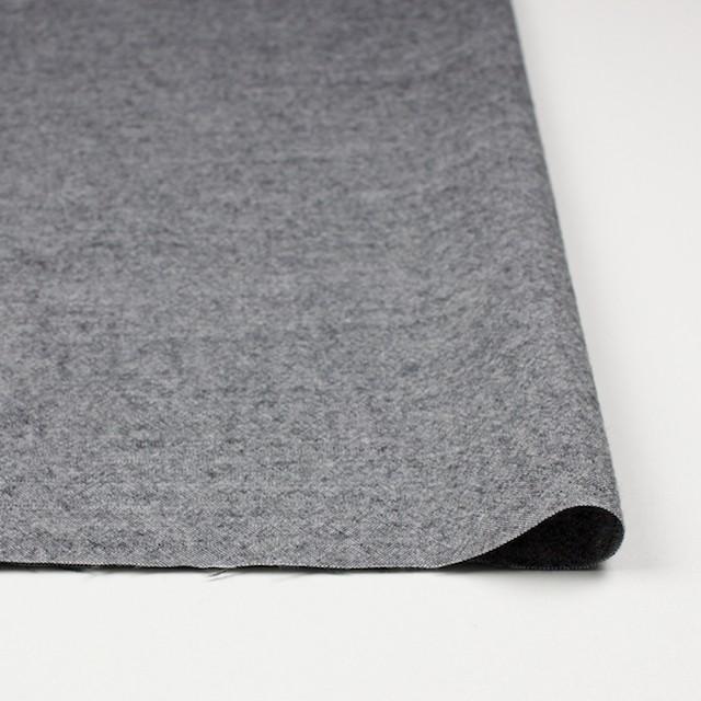 ウール&コットン×無地(チャコールグレー)×起毛シャンブレー_全3色 イメージ3