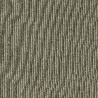コットン×無地(モスグリーン)×丸編みリブニット_全3色 サムネイル1