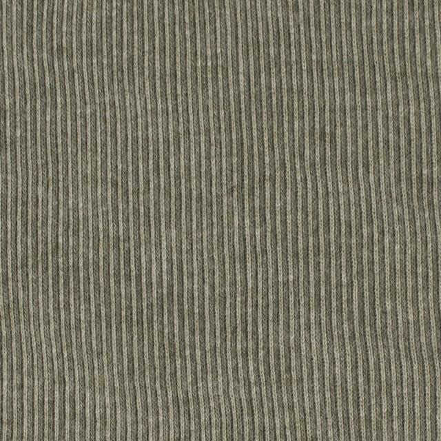 コットン×無地(モスグリーン)×丸編みリブニット_全3色 イメージ1