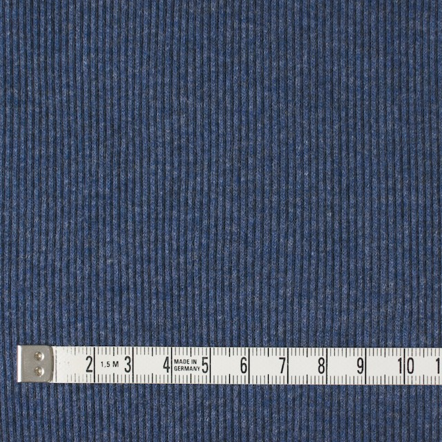 コットン×無地(アイアンブルー)×丸編みリブニット_全3色 イメージ4