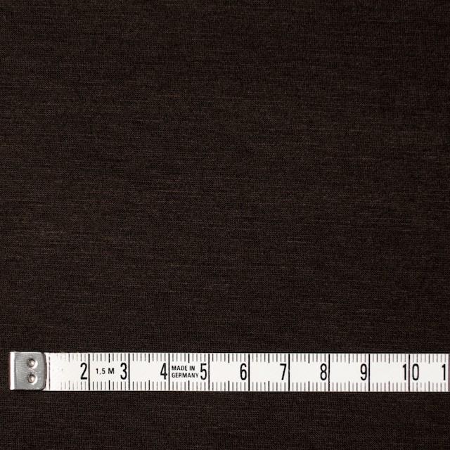 コットン&リヨセル混×無地(ダークブラウン)×天竺ニット_全4色 イメージ4