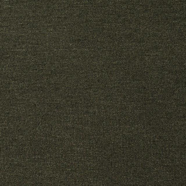 コットン&リヨセル混×無地(カーキグリーン)×天竺ニット_全4色 イメージ1