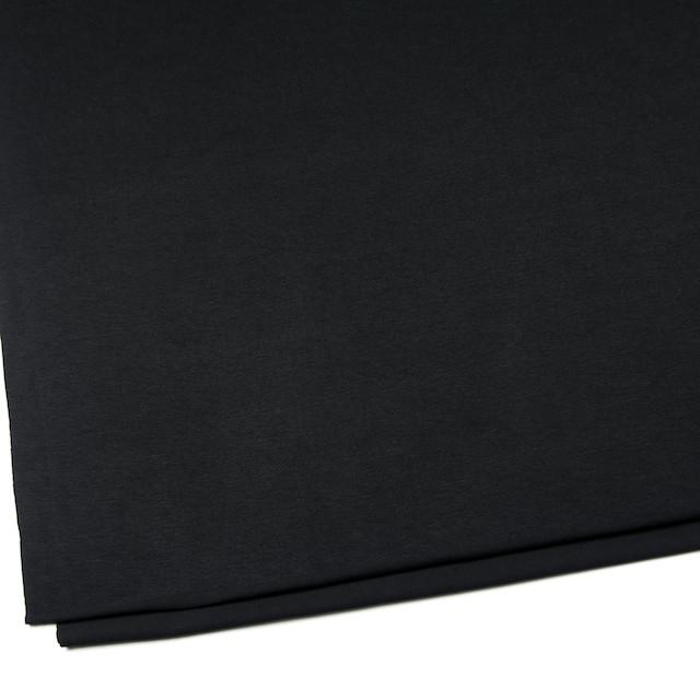 コットン&リヨセル混×無地(ブラック)×天竺ニット_全4色 イメージ2