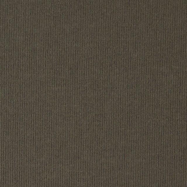 コットン×無地(カーキグリーン)×フライスニット_全2色 イメージ1