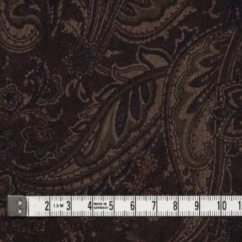 ポリエステル&ポリウレタン×ペイズリー(ダークブラウン)×スエードかわり織ストレッチ_全2色 サムネイル4