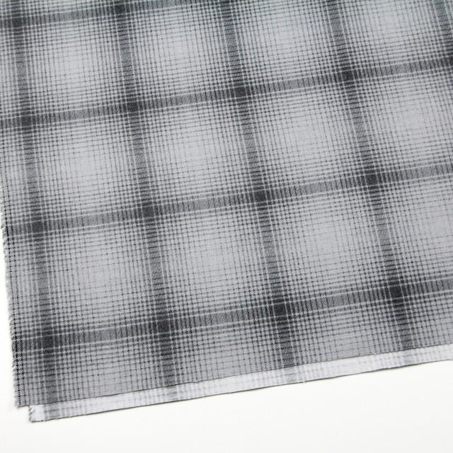 コットン×チェック(グレー)×フランネル_全2色 イメージ2