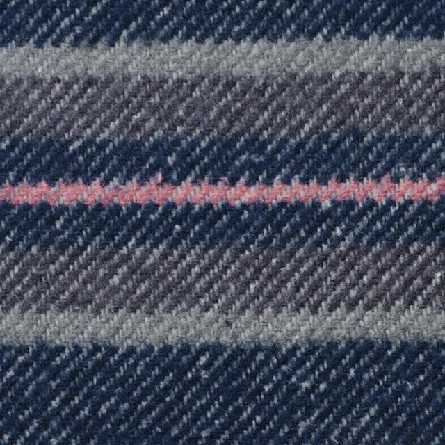 コットン×ボーダー(ブルー&グレー)×ビエラ イメージ1