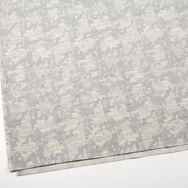 コットン&ポリウレタン×幾何学模様(ライトグレー)×細コーデュロイ・ストレッチ イメージ2