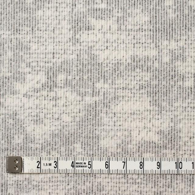 コットン&ポリウレタン×幾何学模様(ライトグレー)×細コーデュロイ・ストレッチ イメージ4