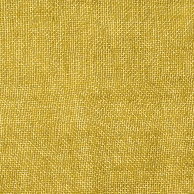 リネン×無地(イエロー)×ガーゼ_全5色_イタリア製 イメージ1