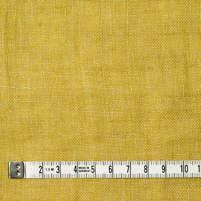 リネン×無地(イエロー)×ガーゼ_全5色_イタリア製 イメージ4
