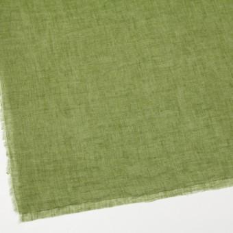 リネン×無地(グリーン)×ガーゼ_全5色_イタリア製 サムネイル2