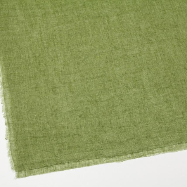 リネン×無地(グリーン)×ガーゼ_全5色_イタリア製 イメージ2