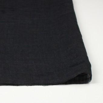 リネン×無地(ブラック)×ガーゼ_全5色_イタリア製 サムネイル3