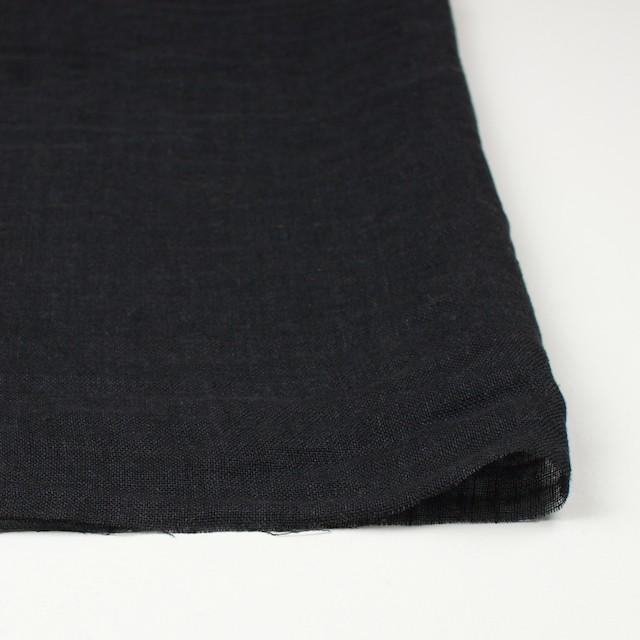 リネン×無地(ブラック)×ガーゼ_全5色_イタリア製 イメージ3