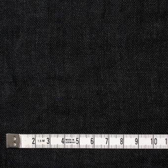 リネン×無地(ブラック)×ガーゼ_全5色_イタリア製 サムネイル4