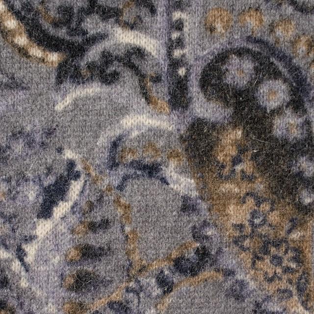 ウール&ナイロン混×ペイズリー(グレープグレー)×天竺ニット_全2色 イメージ1