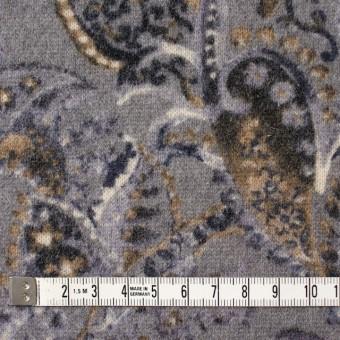 ウール&ナイロン混×ペイズリー(グレープグレー)×天竺ニット_全2色 サムネイル4