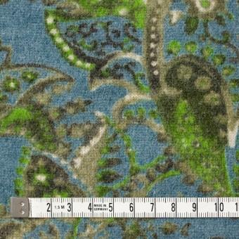 ウール&ナイロン混×ペイズリー(ブルーグレー)×天竺ニット_全2色 サムネイル4