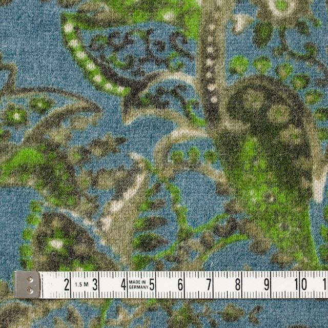 ウール&ナイロン混×ペイズリー(ブルーグレー)×天竺ニット_全2色 イメージ4