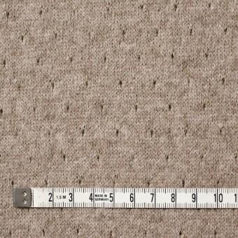 ウール&ナイロン混×無地(ベージュ)×天竺ニット_全2色 サムネイル4