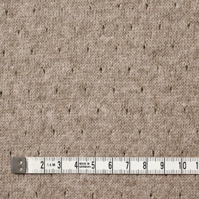 ウール&ナイロン混×無地(ベージュ)×天竺ニット_全2色 イメージ4