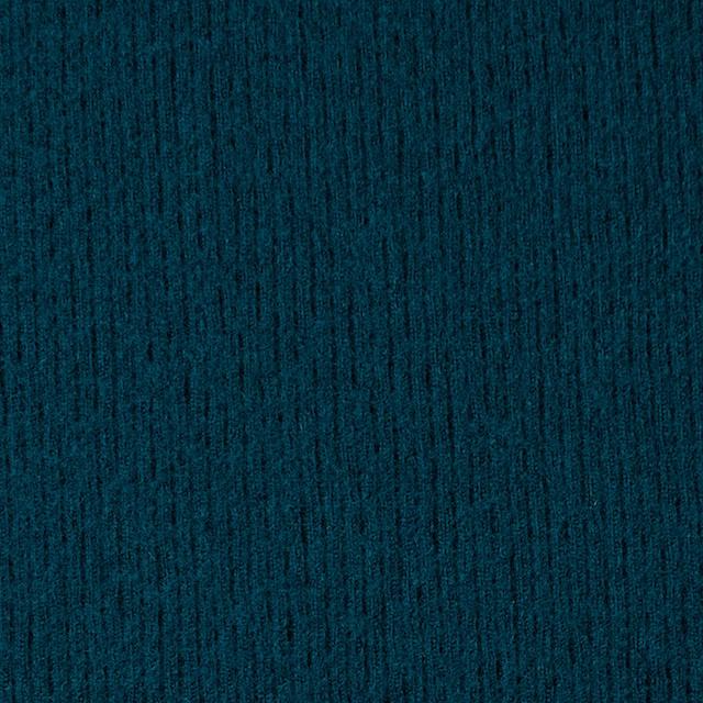 ウール×無地(アカプルコブルー)×圧縮リブニット_全8色 イメージ1