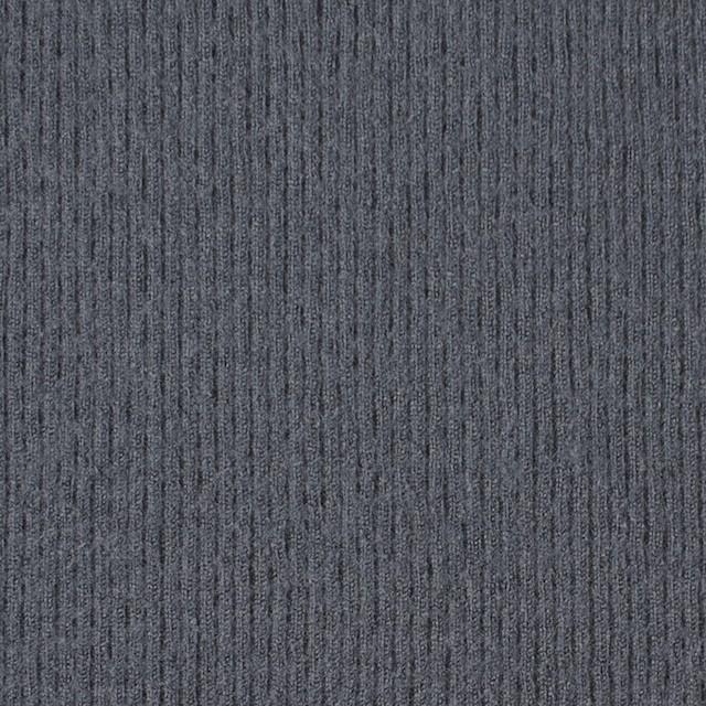 ウール×無地(ストームグレー)×圧縮リブニット_全8色 イメージ1