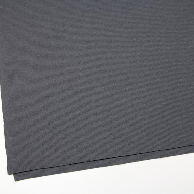 ウール×無地(ストームグレー)×圧縮リブニット_全8色 イメージ2
