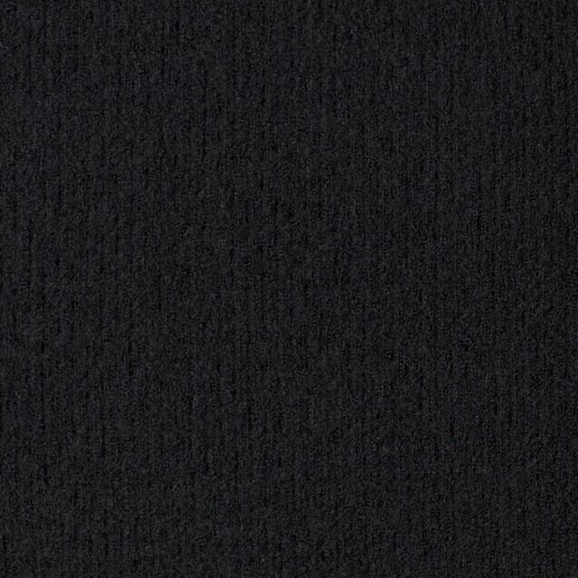 ウール×無地(ブラック)×圧縮リブニット_全8色 イメージ1