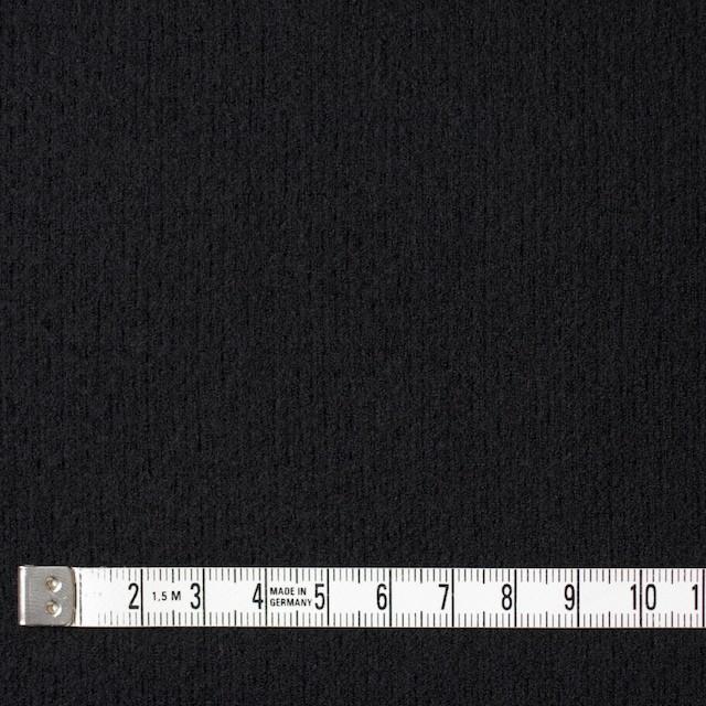 ウール×無地(ブラック)×圧縮リブニット_全8色 イメージ4