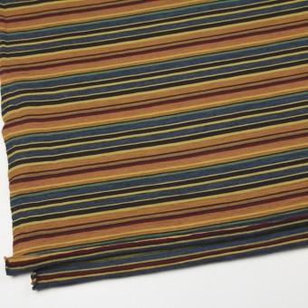 ウール&アクリル×ボーダー(オレンジ&ブルーグレー)×天竺ニット_全2色 サムネイル2