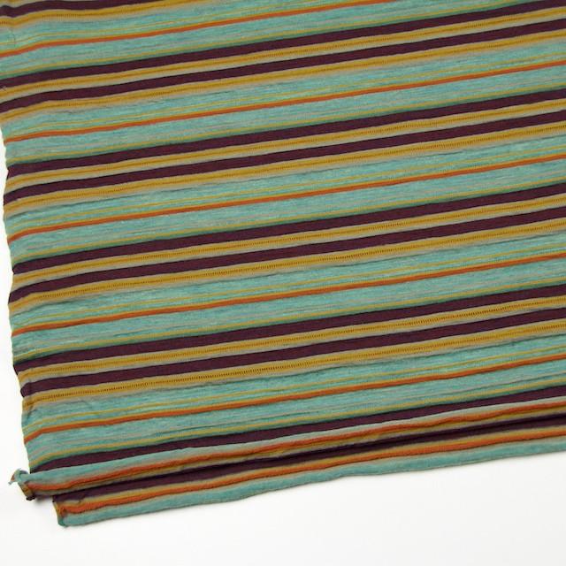 ウール&アクリル×ボーダー(ミント&パープル)×天竺ニット_全2色 イメージ2