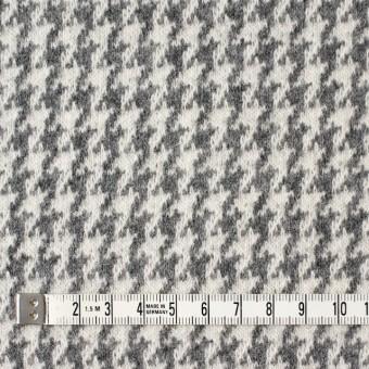 ウール&アンゴラ×チェック(グレー)×ジャガードニット サムネイル4