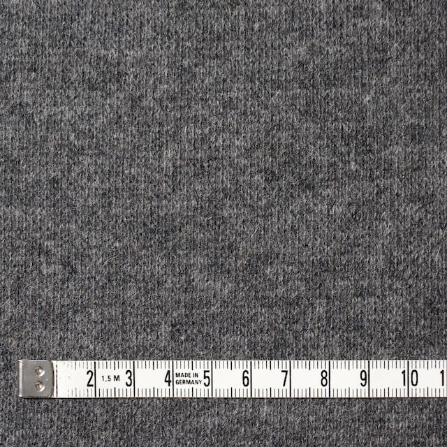 ウール&ナイロン混×無地(グレー&キナリ)×Wニット イメージ4