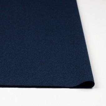 ウール×無地(ミッドナイトブルー)×フラノ(フランネル) サムネイル3