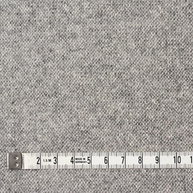 ウール&ポリエステル×無地(ライトグレー)×ツイード イメージ4