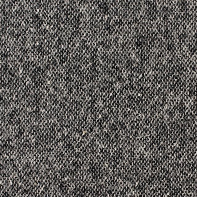 ウール×無地(チャコールグレー)×ツイード イメージ1