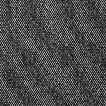 ウール&ポリエステル混×無地(ブラック)×ツイードストレッチ サムネイル1