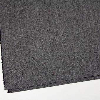 ウール&ポリエステル混×無地(ブラック)×ツイードストレッチ サムネイル2