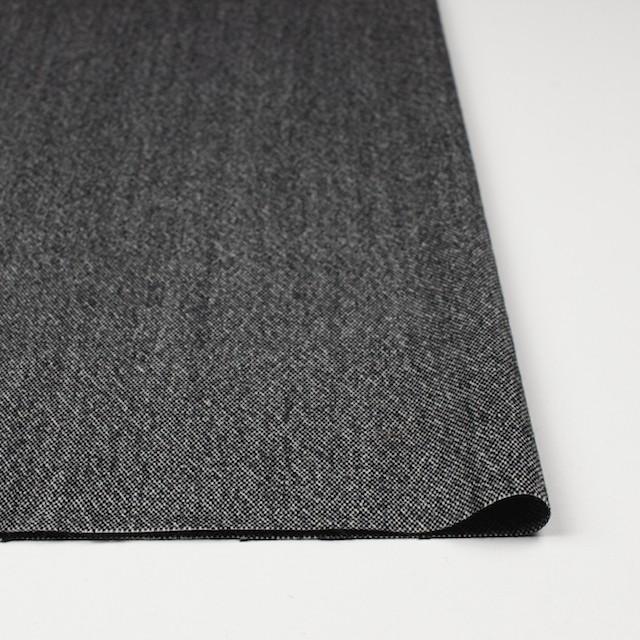 ウール&ポリエステル混×無地(ブラック)×ツイードストレッチ イメージ3