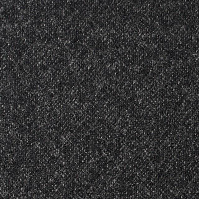 ウール&ポリウレタン×無地(チャコールブラック)×ツイードストレッチ イメージ1