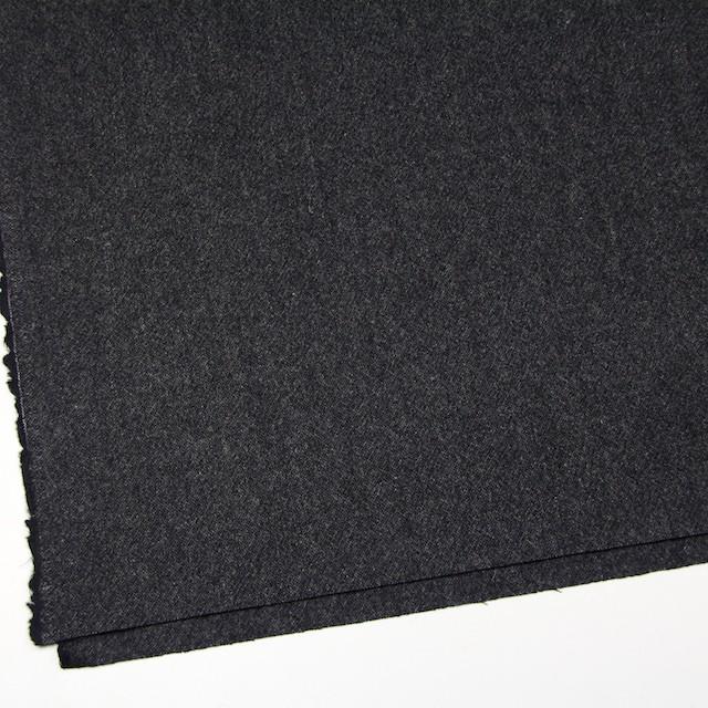 ウール&ポリウレタン×無地(チャコールブラック)×ツイードストレッチ イメージ2