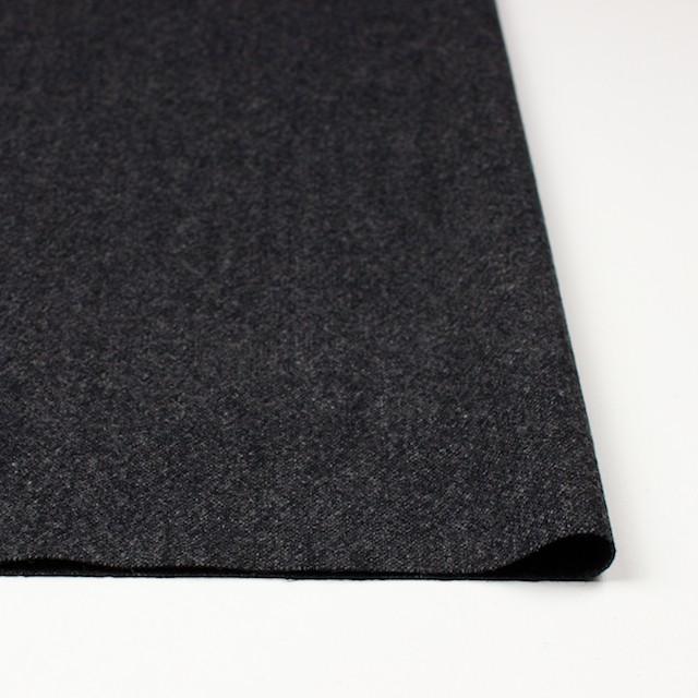 ウール&ポリウレタン×無地(チャコールブラック)×ツイードストレッチ イメージ3