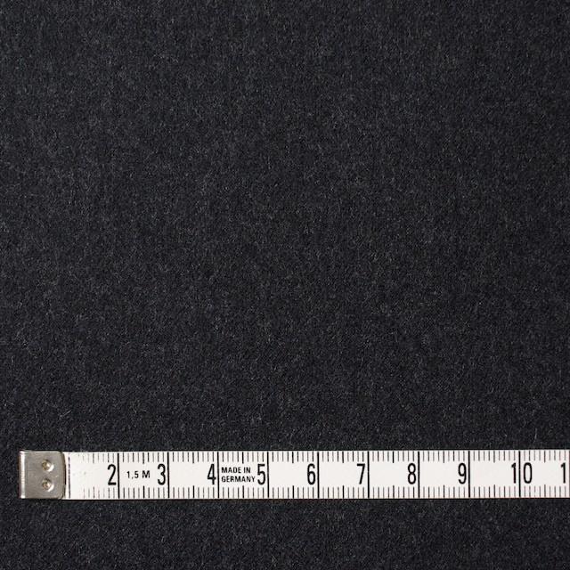 ウール×無地(チャコールグレー)×サージ イメージ4