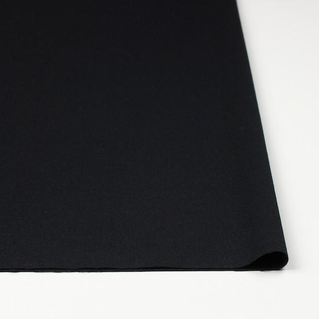 ウール&ポリウレタン×無地(ブラック)×サージストレッチ イメージ3