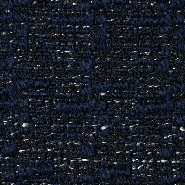 ウール&ポリエステル×ミックス(ネイビー)×ファンシーツイード_全2色 イメージ1